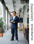 a full body portrait of a... | Shutterstock . vector #1203195952