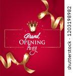 grand opening invitation card... | Shutterstock .eps vector #1203198982