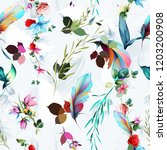 seamless floral background... | Shutterstock .eps vector #1203200908