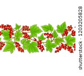 red currant pattern | Shutterstock .eps vector #1203205828