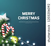 merry christmas background with ... | Shutterstock .eps vector #1203206092