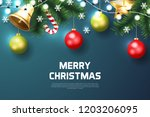 merry christmas background with ...   Shutterstock .eps vector #1203206095