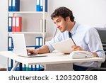 young handsome businessman...   Shutterstock . vector #1203207808