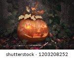Halloween Pumpkin Outdoors With ...