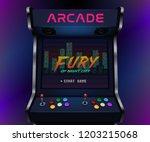 retro arcade machine. vector... | Shutterstock .eps vector #1203215068