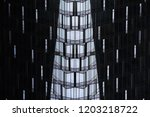 reworked photo of high rise... | Shutterstock . vector #1203218722