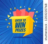 enter to win prizes gift box.... | Shutterstock .eps vector #1203220768