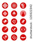 description icons of clothes ... | Shutterstock .eps vector #120322342