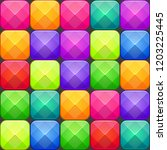 colorful abstract mosaic... | Shutterstock .eps vector #1203225445
