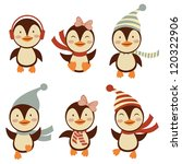 cute little penguins collection | Shutterstock .eps vector #120322906