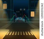 vector illustration of city... | Shutterstock .eps vector #1203231262
