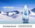 vector realistic plastic bottle ... | Shutterstock .eps vector #1203231532