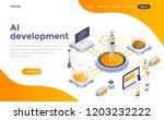 modern flat design isometric... | Shutterstock .eps vector #1203232222