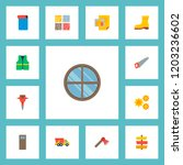 set of industrial icons flat... | Shutterstock .eps vector #1203236602