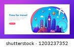 travel banner design with... | Shutterstock .eps vector #1203237352