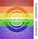 gold membership emblem on... | Shutterstock .eps vector #1203240412