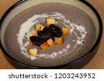 mushroom cream soup with...   Shutterstock . vector #1203243952