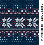 knitted christmas and new year... | Shutterstock .eps vector #1203252058