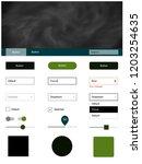 dark green vector design ui kit ...
