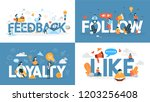 loyalty concept banner set.... | Shutterstock .eps vector #1203256408