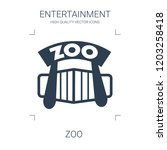 zoo icon. high quality filled... | Shutterstock .eps vector #1203258418