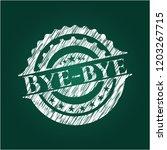 bye bye with chalkboard texture | Shutterstock .eps vector #1203267715