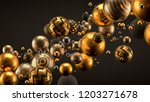 beautiful background with balls.... | Shutterstock . vector #1203271678