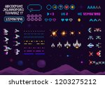 vector retro video 8 bit game... | Shutterstock .eps vector #1203275212