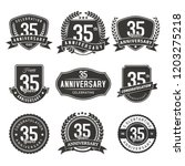 celebration 35 years... | Shutterstock .eps vector #1203275218