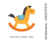 rocking horse icon. cute baby... | Shutterstock .eps vector #1203275575
