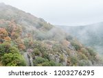mountainside with tree foliage... | Shutterstock . vector #1203276295