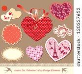 valentine's day design elements ... | Shutterstock .eps vector #120327652
