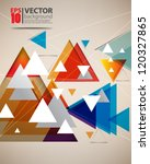 eps10 vector abstract triangle... | Shutterstock .eps vector #120327865