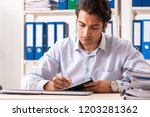 young handsome businessman...   Shutterstock . vector #1203281362