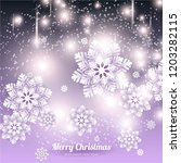 merry christmas and happy new... | Shutterstock .eps vector #1203282115