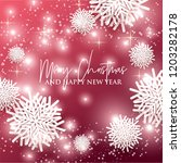 merry christmas and happy new... | Shutterstock .eps vector #1203282178