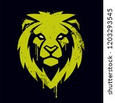 lion head graffiti art. lion... | Shutterstock .eps vector #1203293545