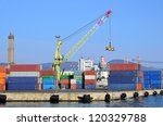 the port cargo and containers... | Shutterstock . vector #120329788