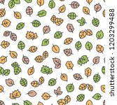 seamless pattern with autumn... | Shutterstock .eps vector #1203299488