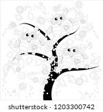 coloring book for adult and... | Shutterstock .eps vector #1203300742