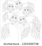 coloring book for adult and... | Shutterstock .eps vector #1203300748