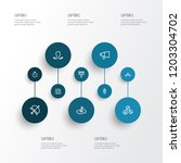 activity icons line style set... | Shutterstock .eps vector #1203304702