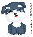 an illustration of smiling... | Shutterstock .eps vector #1203306562