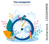 concept illustrations of time... | Shutterstock .eps vector #1203309898