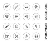 war icon set. collection of 16... | Shutterstock .eps vector #1203312088
