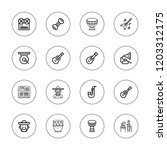 guitar icon set. collection of... | Shutterstock .eps vector #1203312175