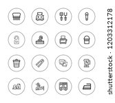 household icon set. collection... | Shutterstock .eps vector #1203312178