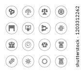 court icon set. collection of... | Shutterstock .eps vector #1203312262