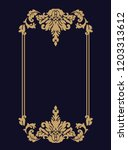 vector thin gold beautiful...   Shutterstock .eps vector #1203313612