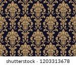 vector beautiful damask pattern....   Shutterstock .eps vector #1203313678
